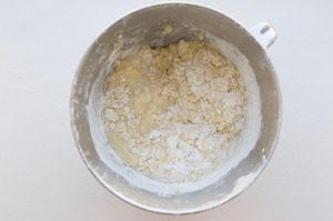 mixing wet and dry ingredients