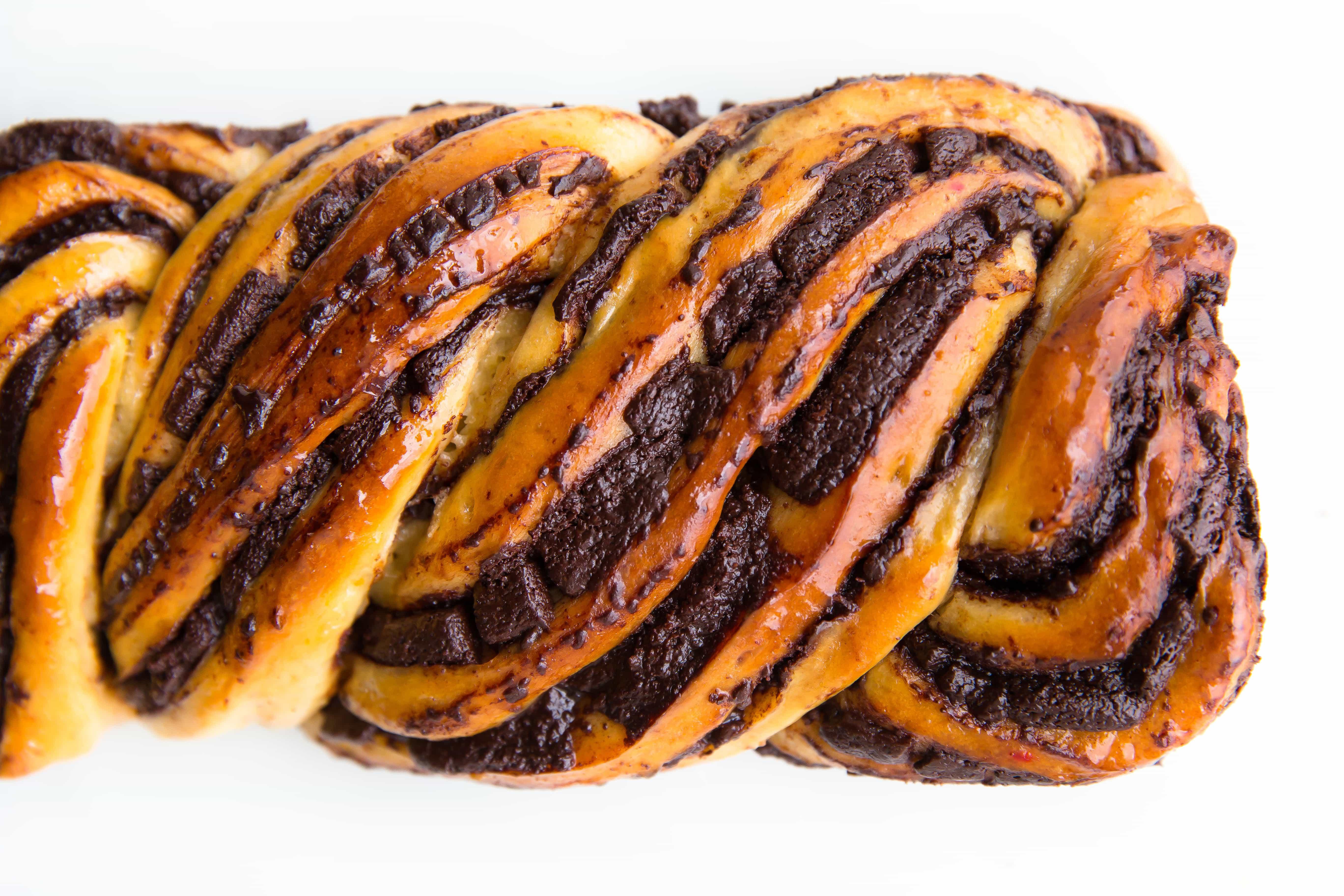 loaf of chocolate babka