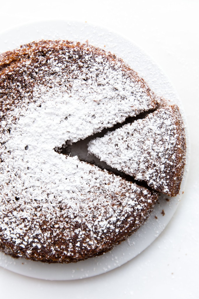 Fresh Ginger and Molasses Cake on plate