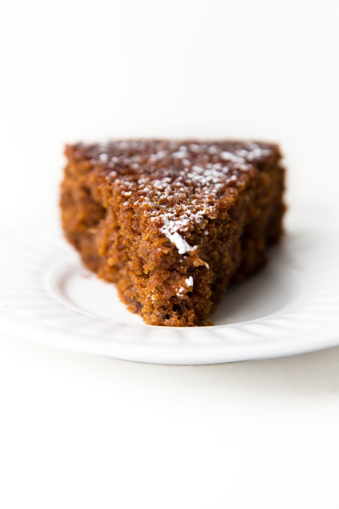 Fresh Ginger and Molasses Cake slice