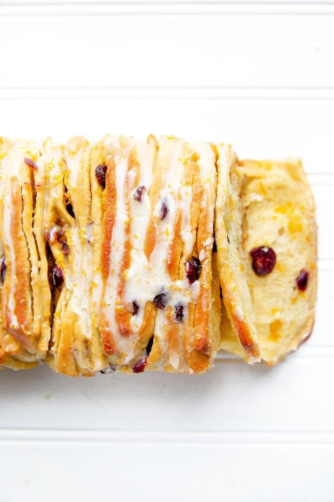 Cranberry Orange Pull Apart Bread | Broma Bakery