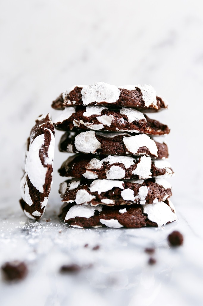 Chocolate Crinkle Cookies in a stack | Broma Bakery