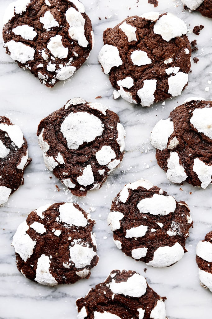 Chocolate Crinkle Cookies on counter | Broma Bakery
