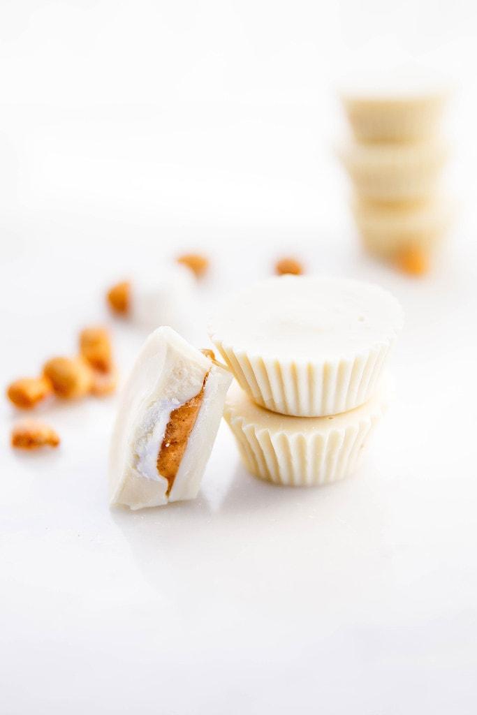 White Chocolate Peanut Butter Fluff Cups