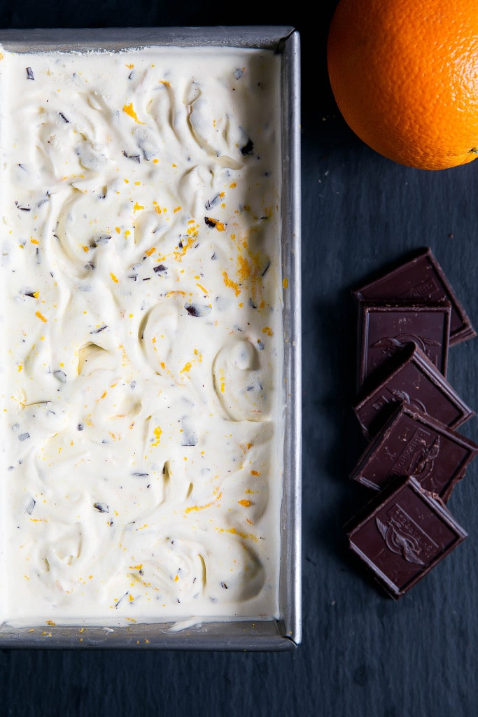 Orange Chocolate Chip Ice Cream combines zesty oranges with sweet chocolate chips and a creamy vanilla custard base. Yum!