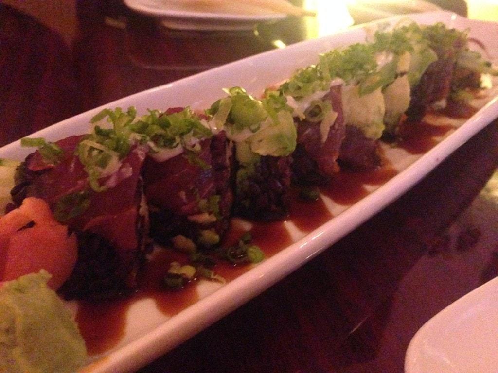 Black rice sushi!