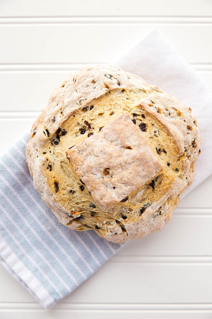 Homemade Irish Soda Bread in one hour? It's almost too good to be true! Celebrate St. Patrick's day with this quick, easy, and delicious loaf