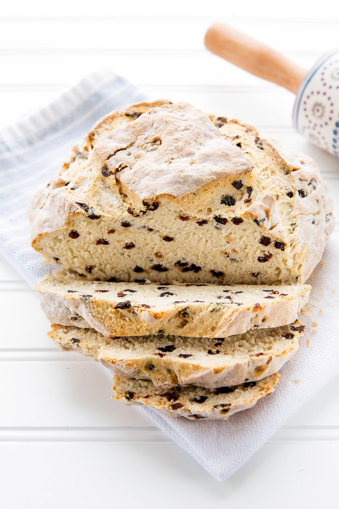 sliced loaf of Irish Soda Bread