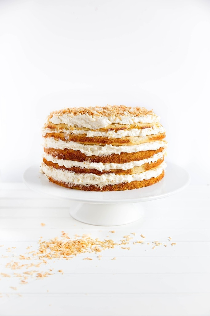 We're taking pina coladas to the next level with this five layer pineapple and coconut Pina Colada Cake. It just screams summer!