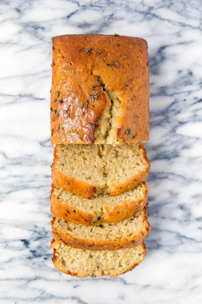 Banana Lavender Bread