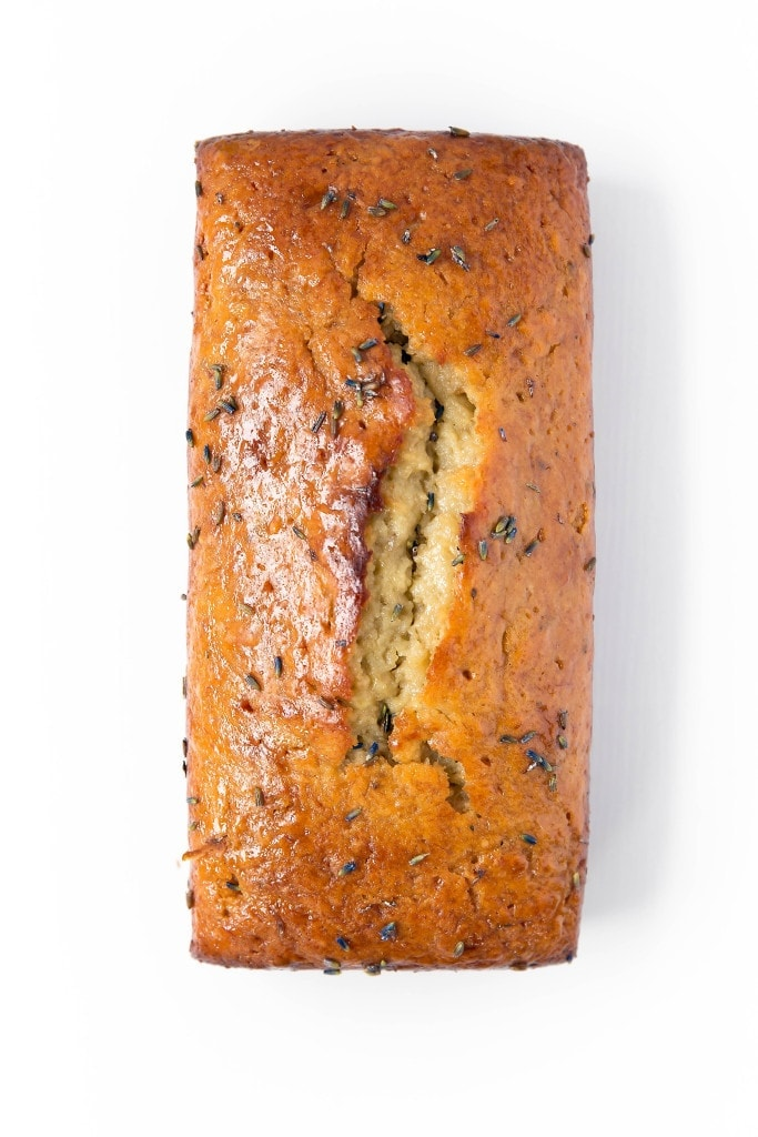 loaf of Banana Lavender Bread
