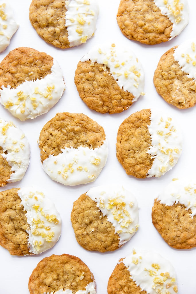 ginger oatmeal cookies with white chocolate