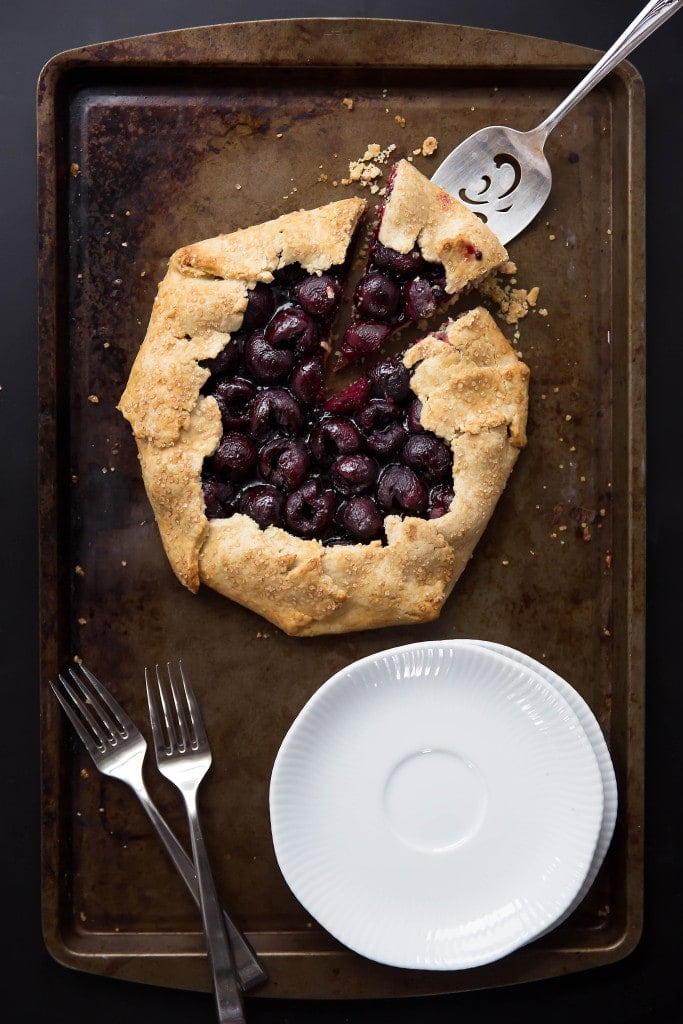 Roasted cherries and balsamic come together in this marvelous Balsamic Cherry Galette!
