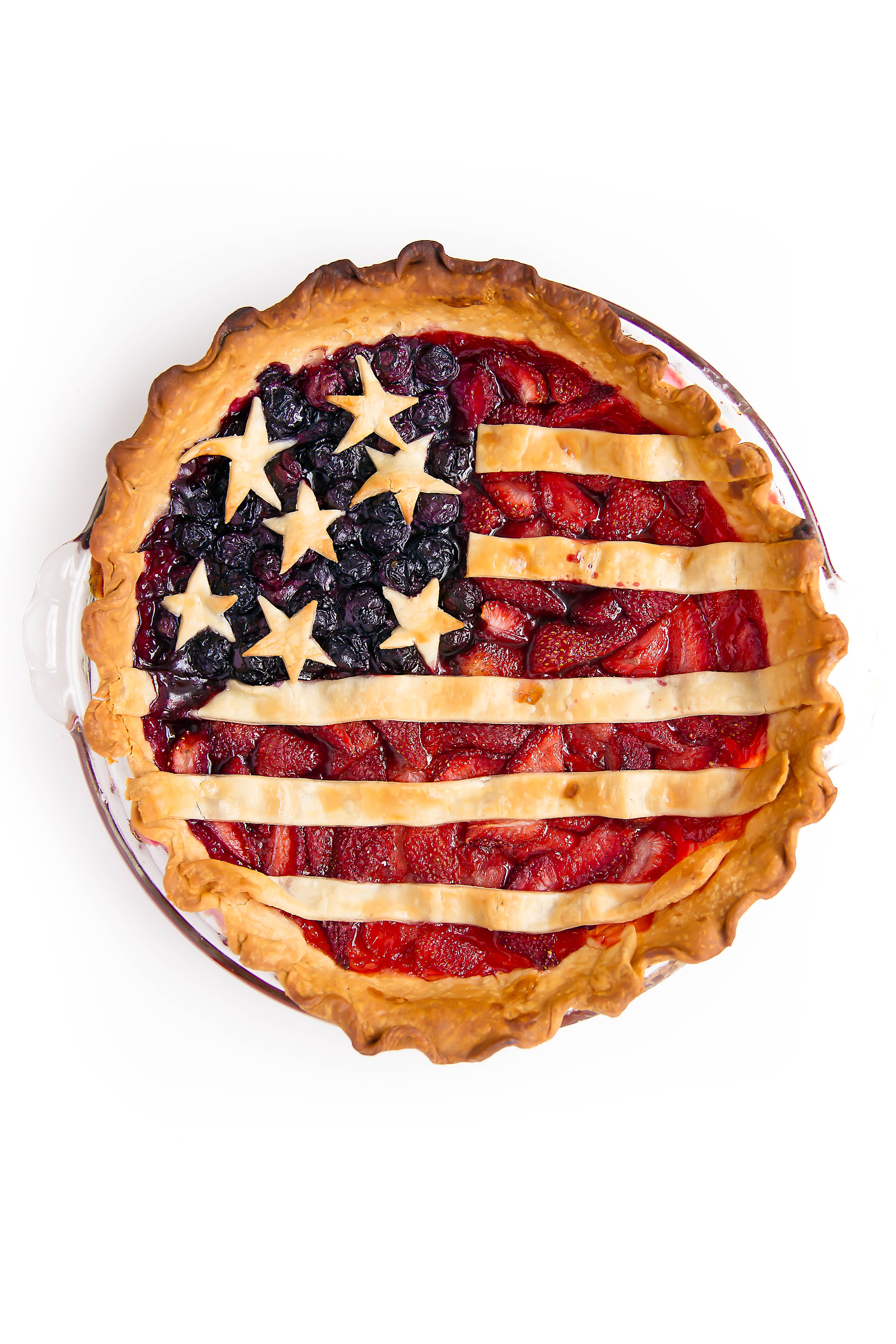Celebrate Fourth Of July with this sweetheart: Miss American Pie, made with fresh berries and a crispy crust!