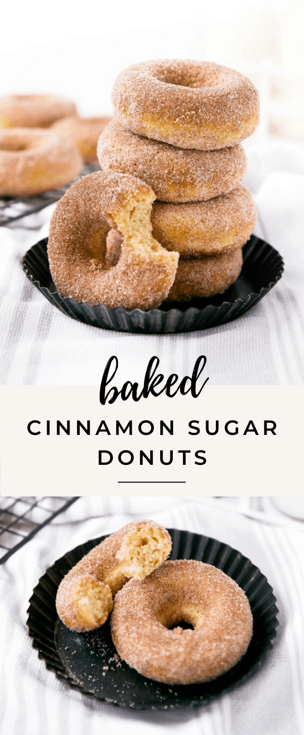 These baked cinnamon sugar donuts are seriously delicious!