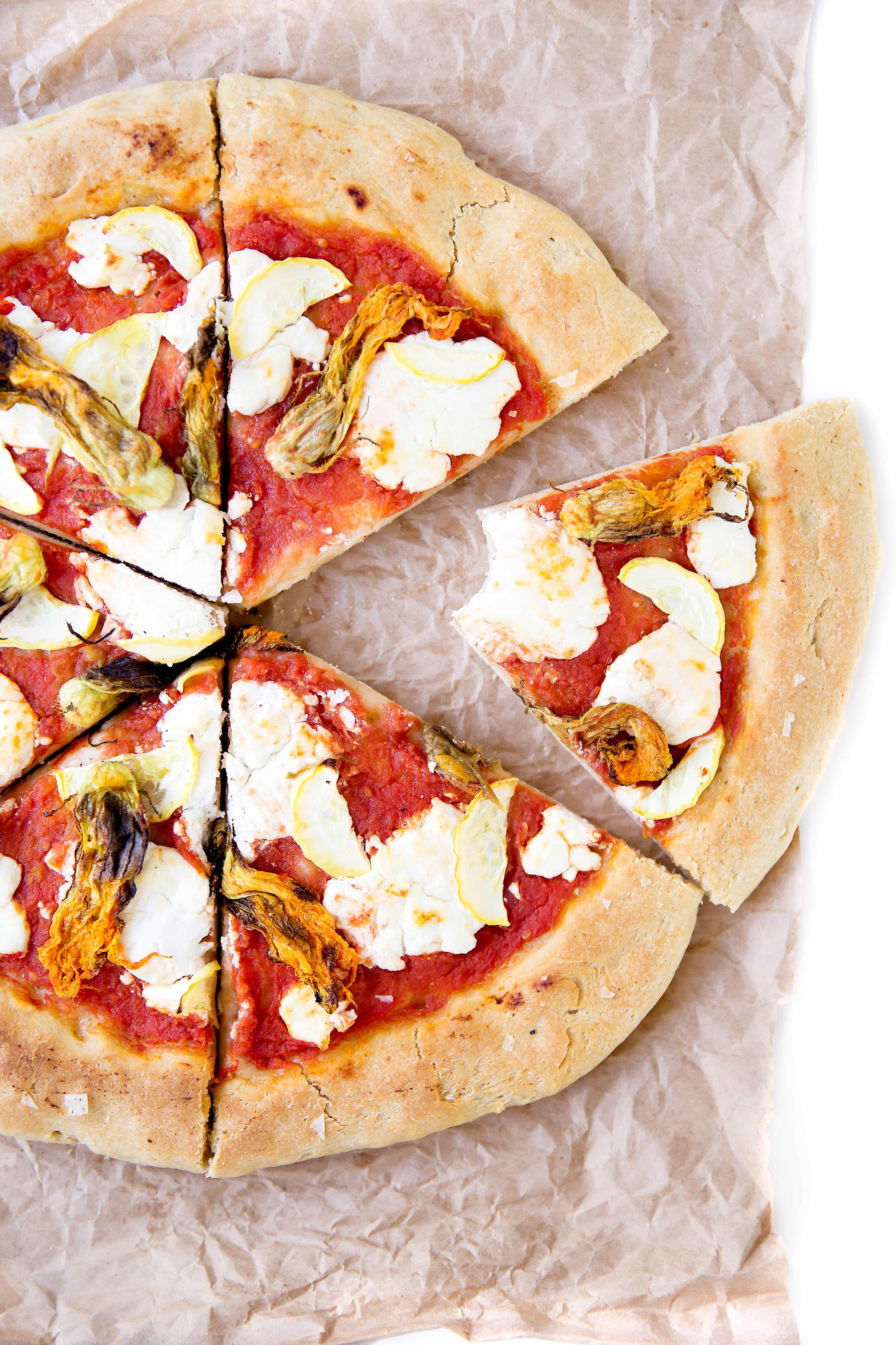 Squash Blossom Pizza - Broma Bakery