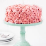 Strawberry Almond Birthday Cake