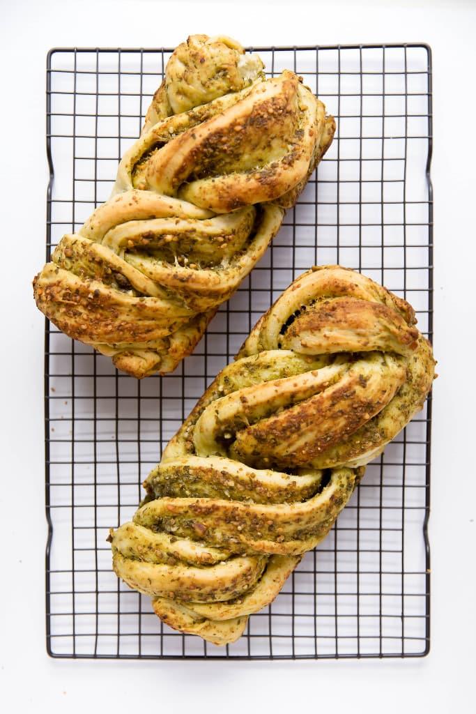 Parmesan Pesto Bread loaves
