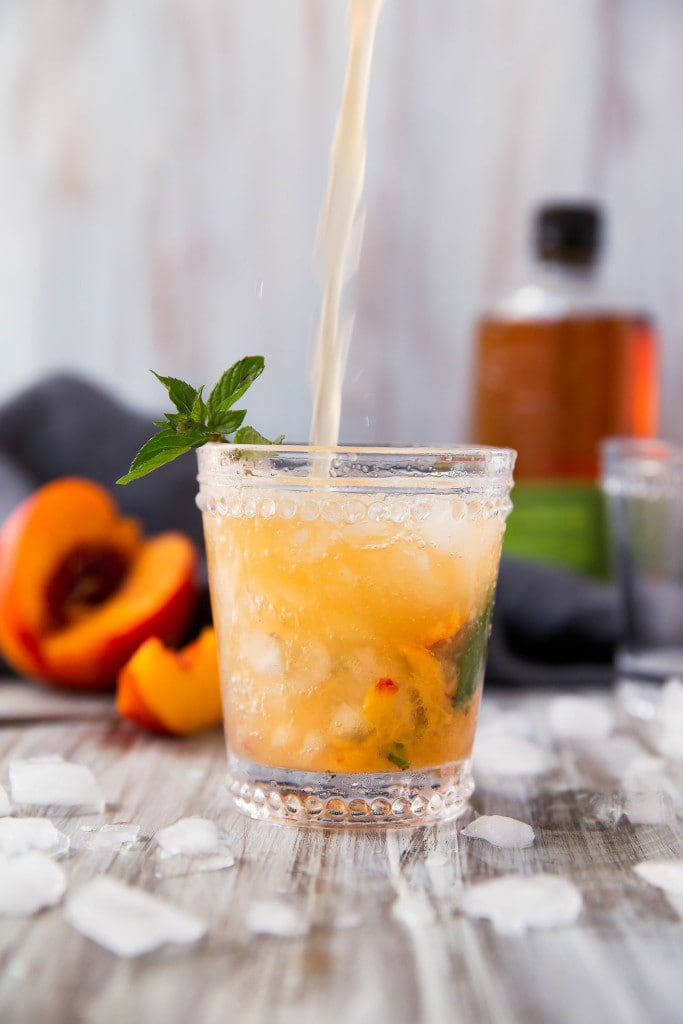 ... classic mint julep gets a twist with this mouth-watering Peach Julep