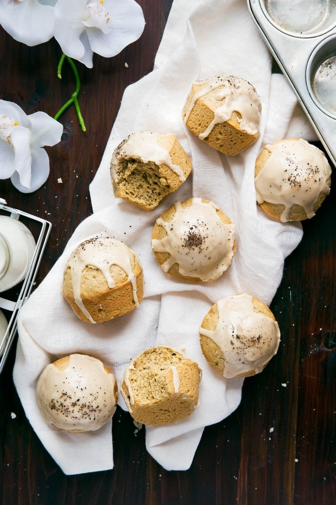 Move over, lattes. Dirty chai spiced muffins topped with an espresso glaze coming through!
