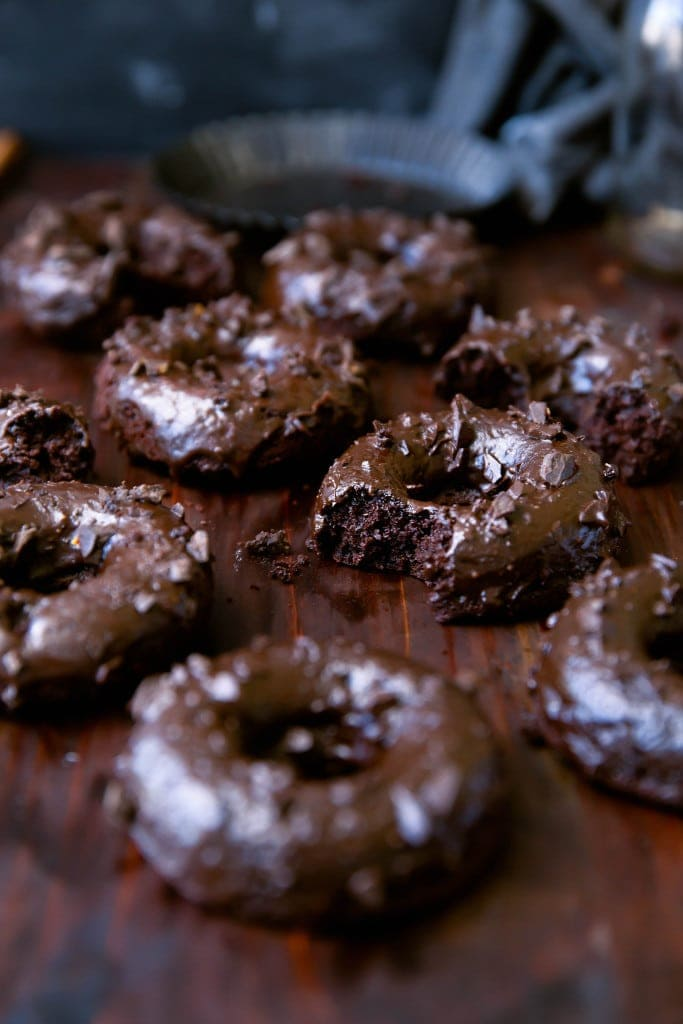 Chocolate Mexican Donuts on tray