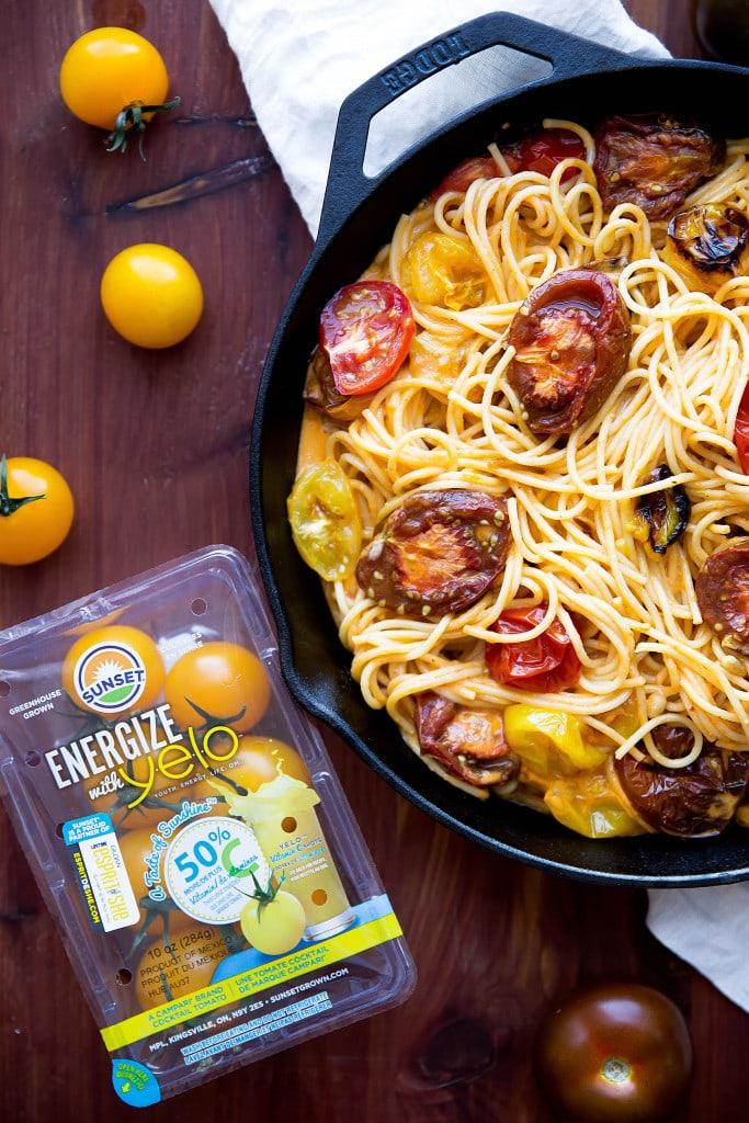 spaghetti with tomato cream sauce