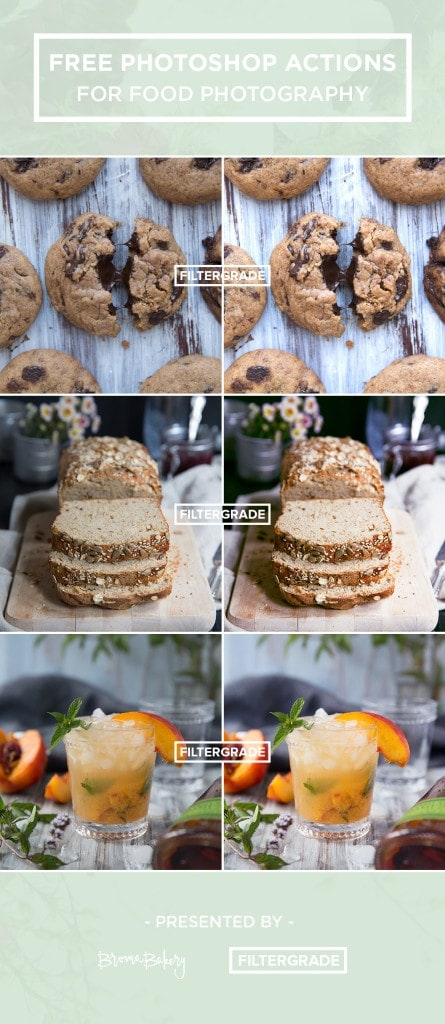 Free Photoshop Actions For Food Photography!