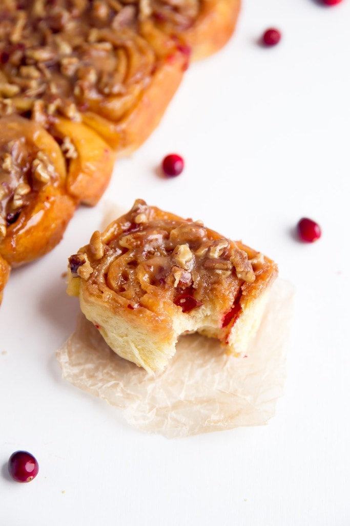 Triple Glazed Cranberry Pecan Sticky Buns: your Thanksgiving morning will never be the same!