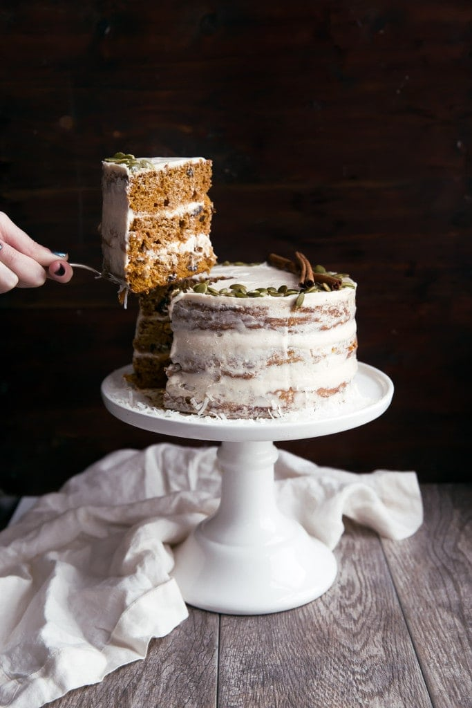 Naked Pumpkin Carrot Cake