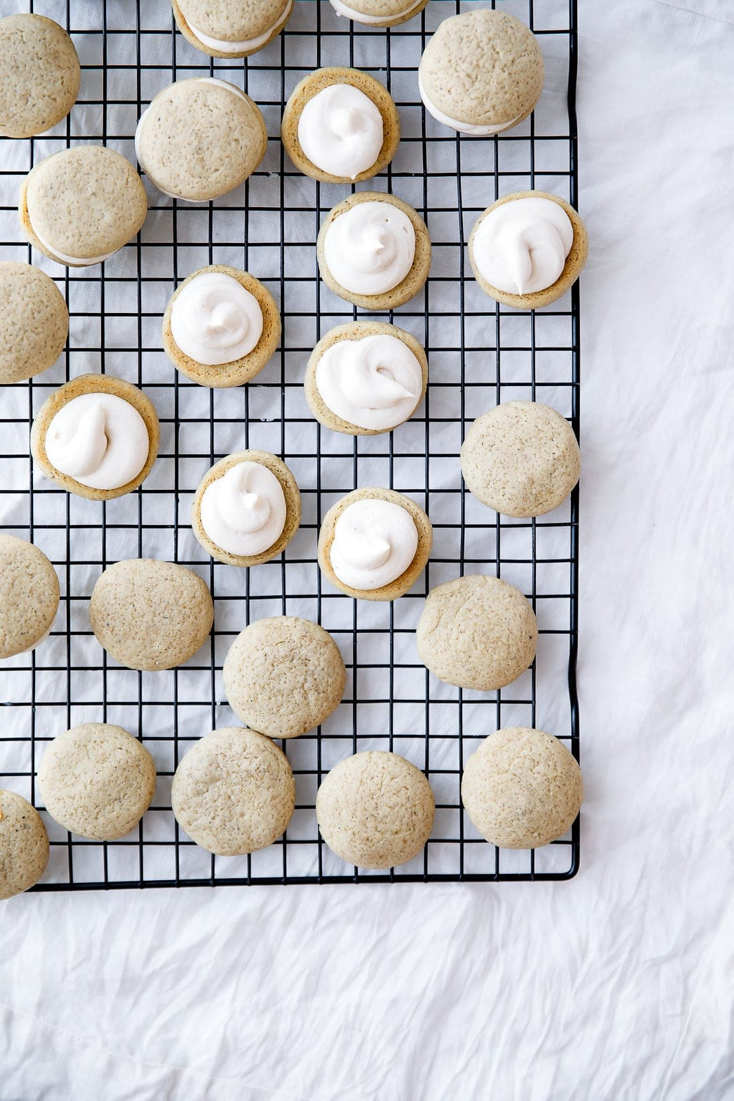 Have your chai latte and eat it too with these chewy Chai Latte Sandwich Cookies with creamy chai-spiked frosting!