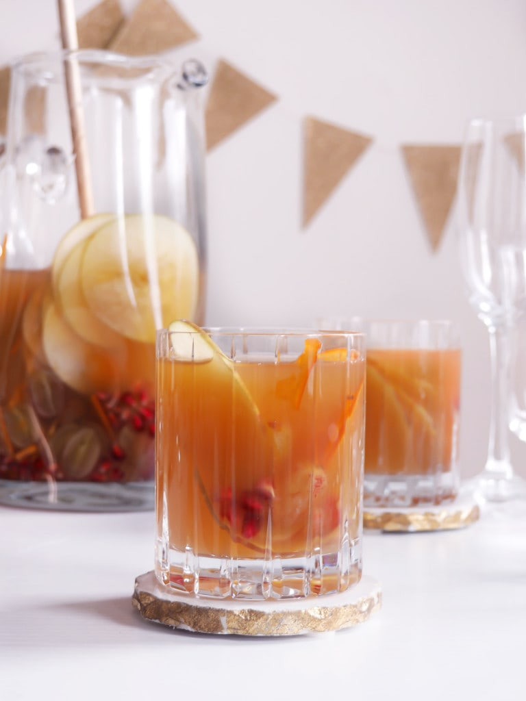 Bourbon Spiked Cider with Winter Fruits