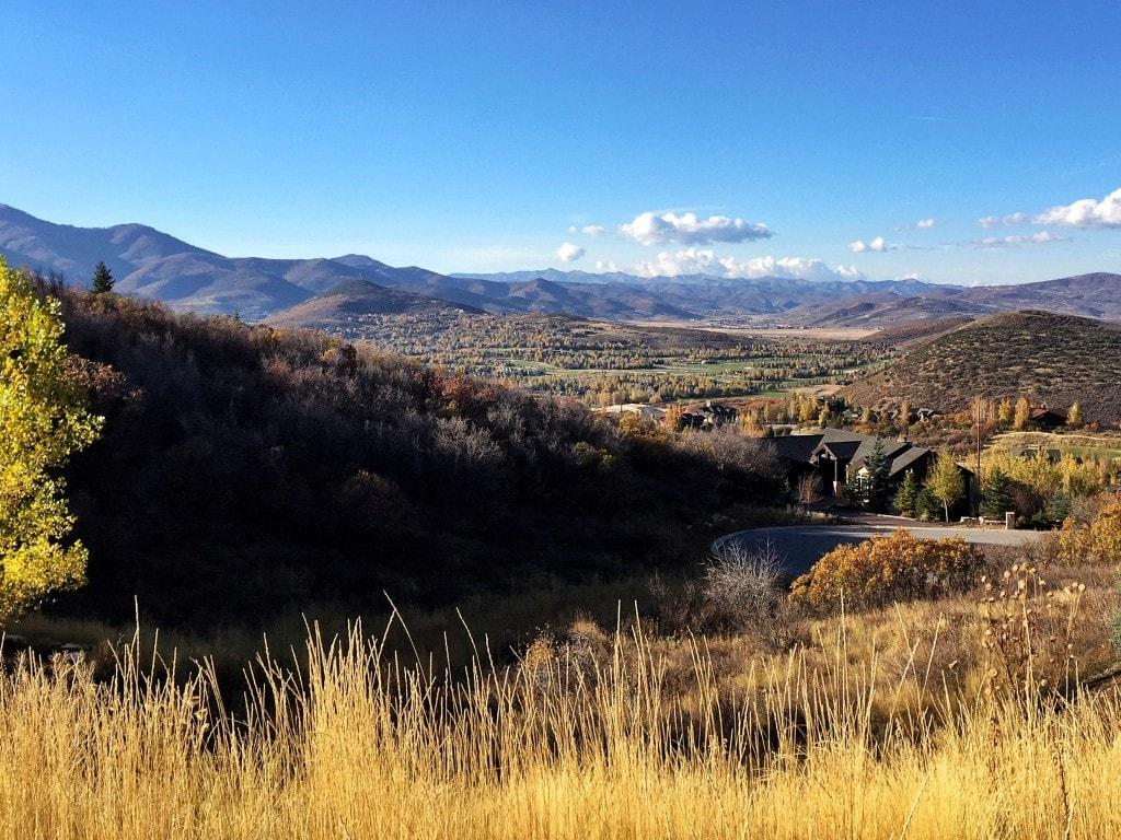 The view from our neighborhood in Deer Valley, Utah