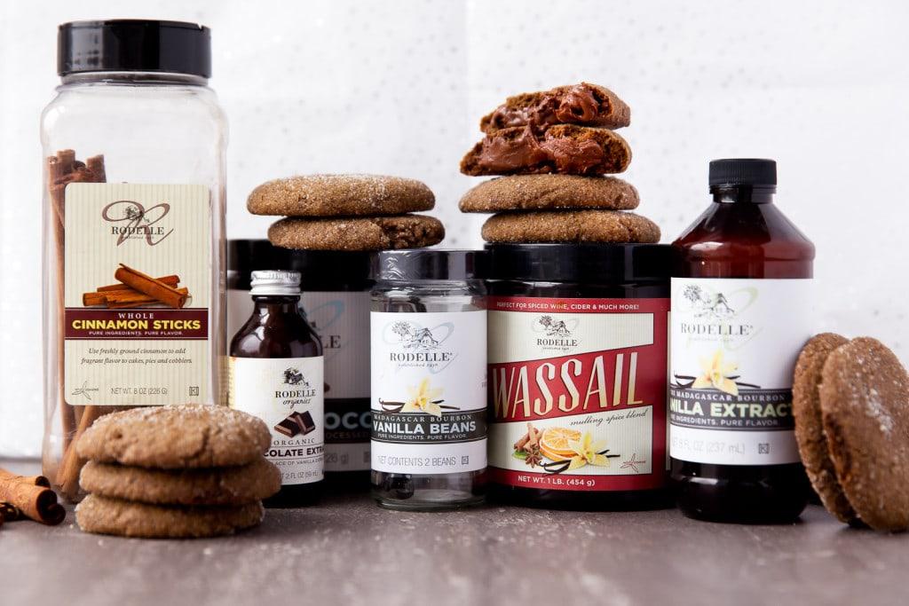 gingersnap cookie ingredients on countertop
