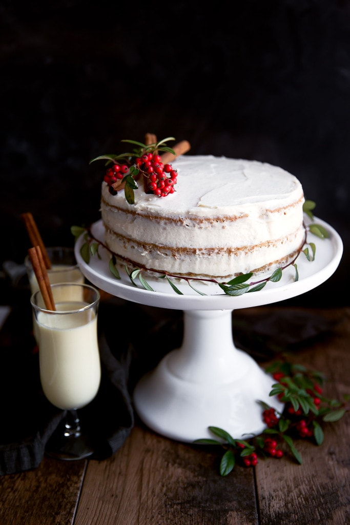 eggnog frosting that lends itself well to the boozyness. The frosting ...