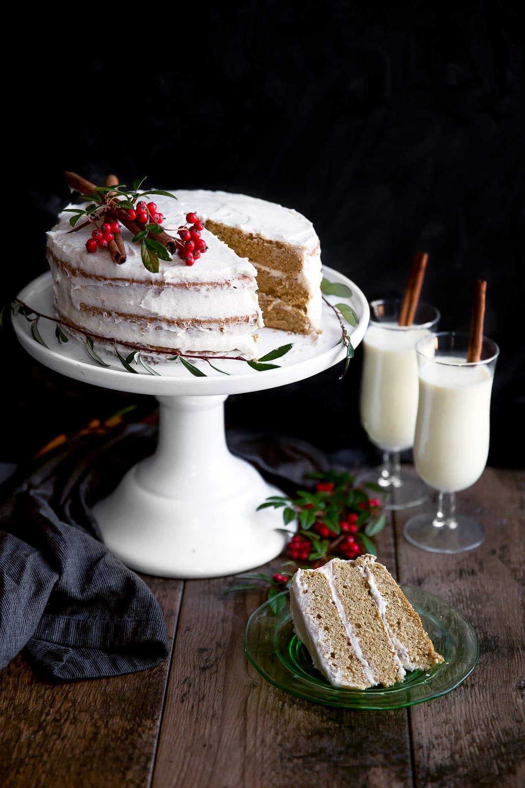 Eggnog & Spiced Rum Cake - Broma Bakery