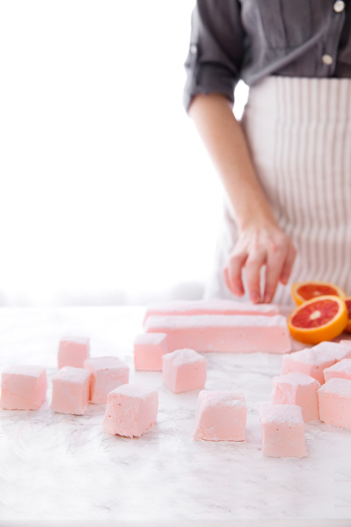 It's citrus season, let's celebrate with fluffy Blood Orange Marshmallows!