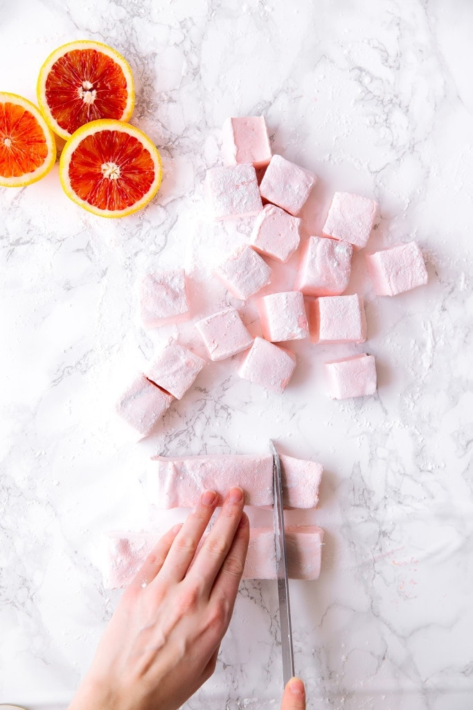 It's citrus season, let's celebrate with fluffy Blood Orange Marshmallows!