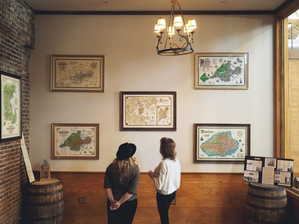 Old Maps of Boston at Boston Harbor Distillery