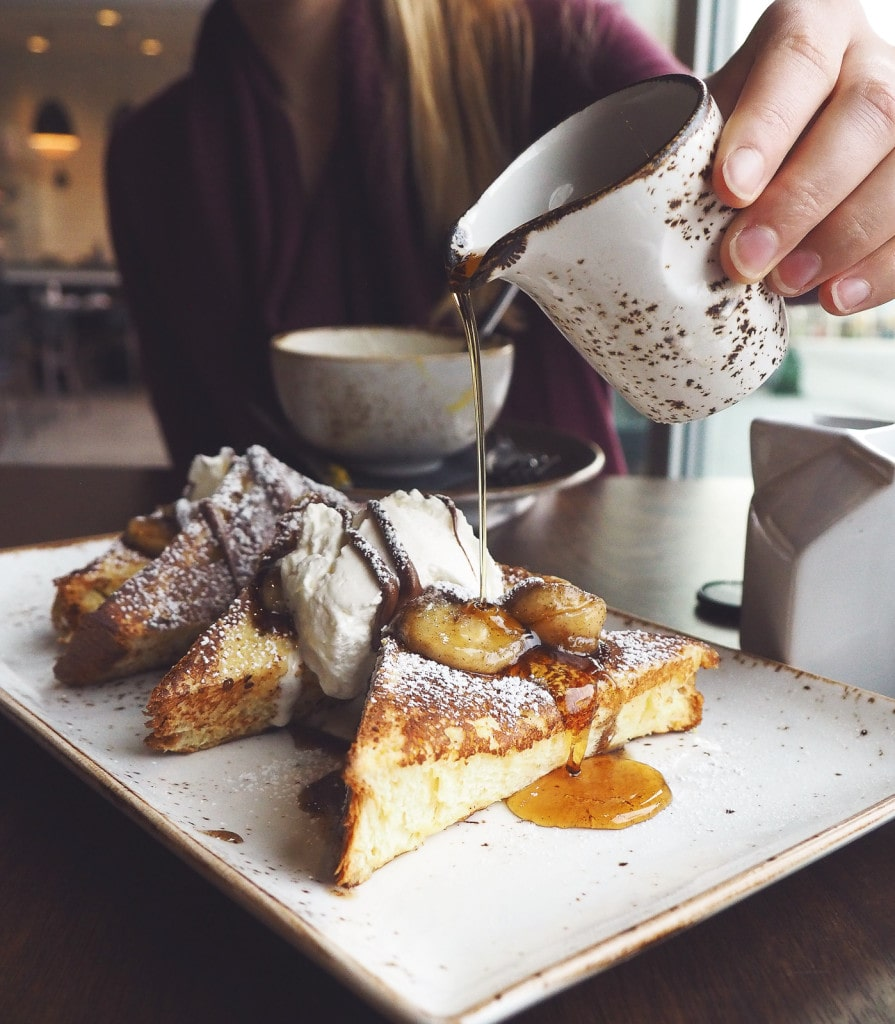 Nutella French Toast with brown sugar caramelized chai rum bananas