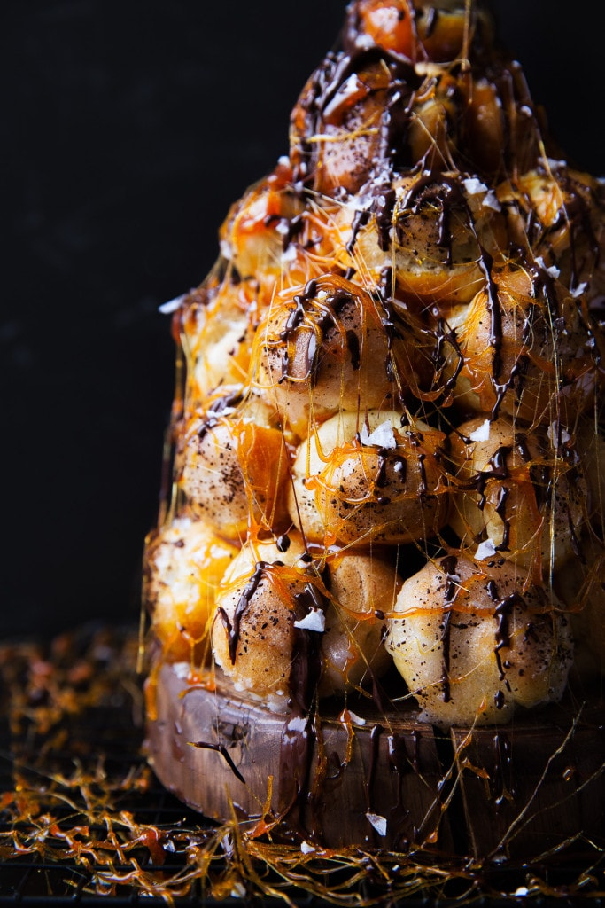 A total showstopper, this Mocha Croquembouche is almost as pretty as it is delicious!