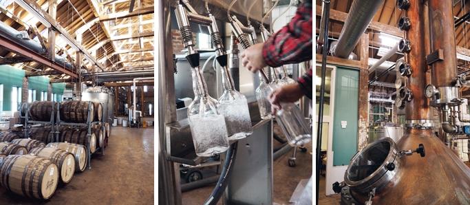 The bottling room at Boston Harbor Distillery