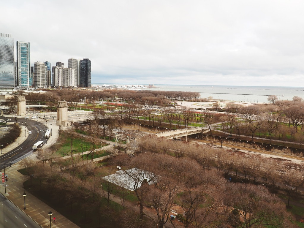 View from The Blackstone Hotel, Chicago