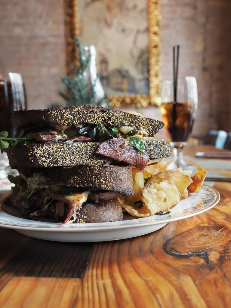 Pastrami Beef Tongue on Rye at Boho House, Chicago