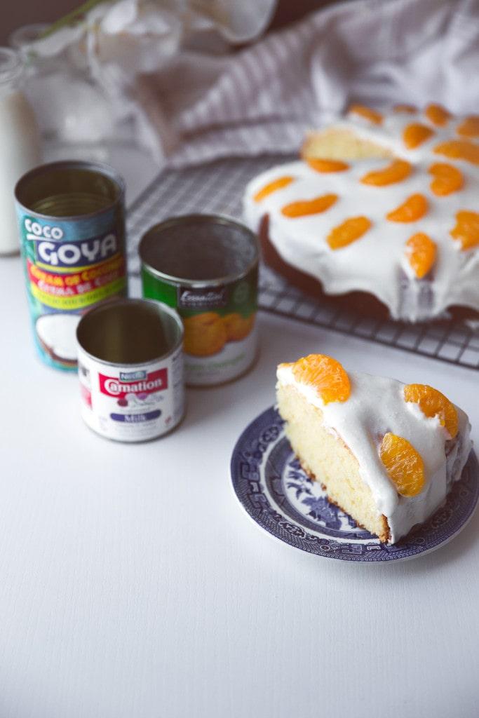 Coconut Lemon Cake slice