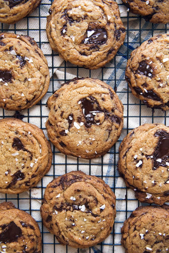 olive oil cookies with chocolate chips