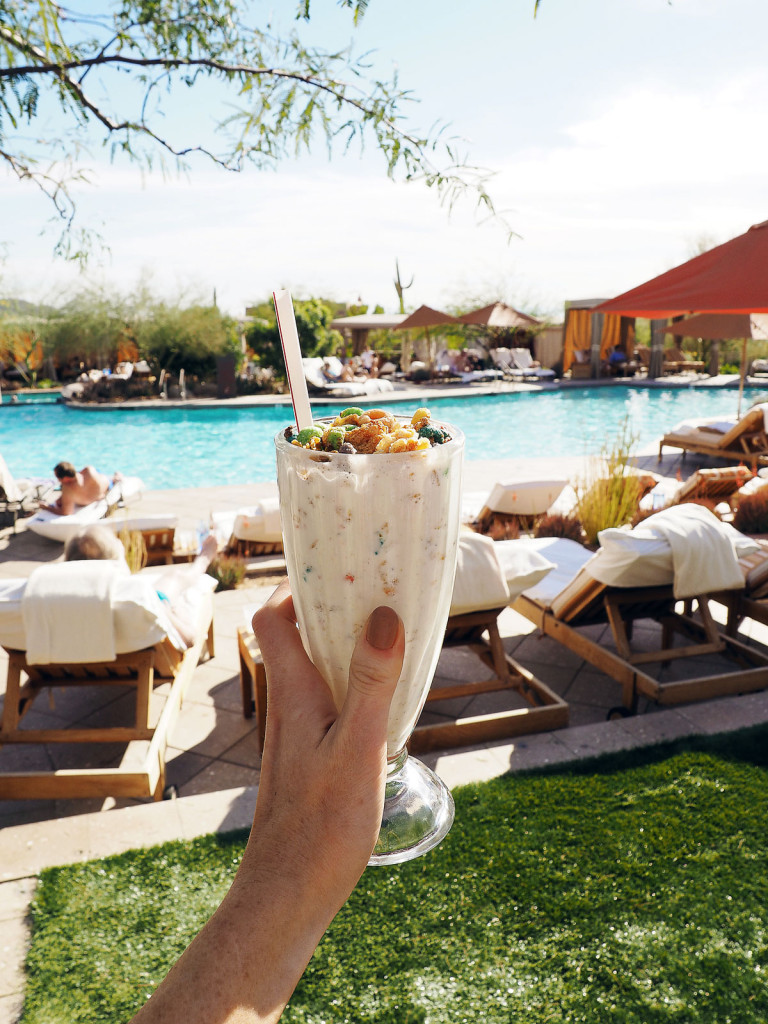 Milkshakes at Four Seasons Scottsdale