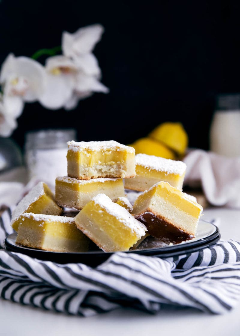 stack of ginger lemon bars