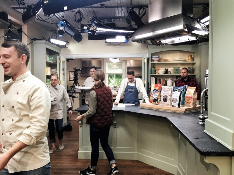 kitchen filming set
