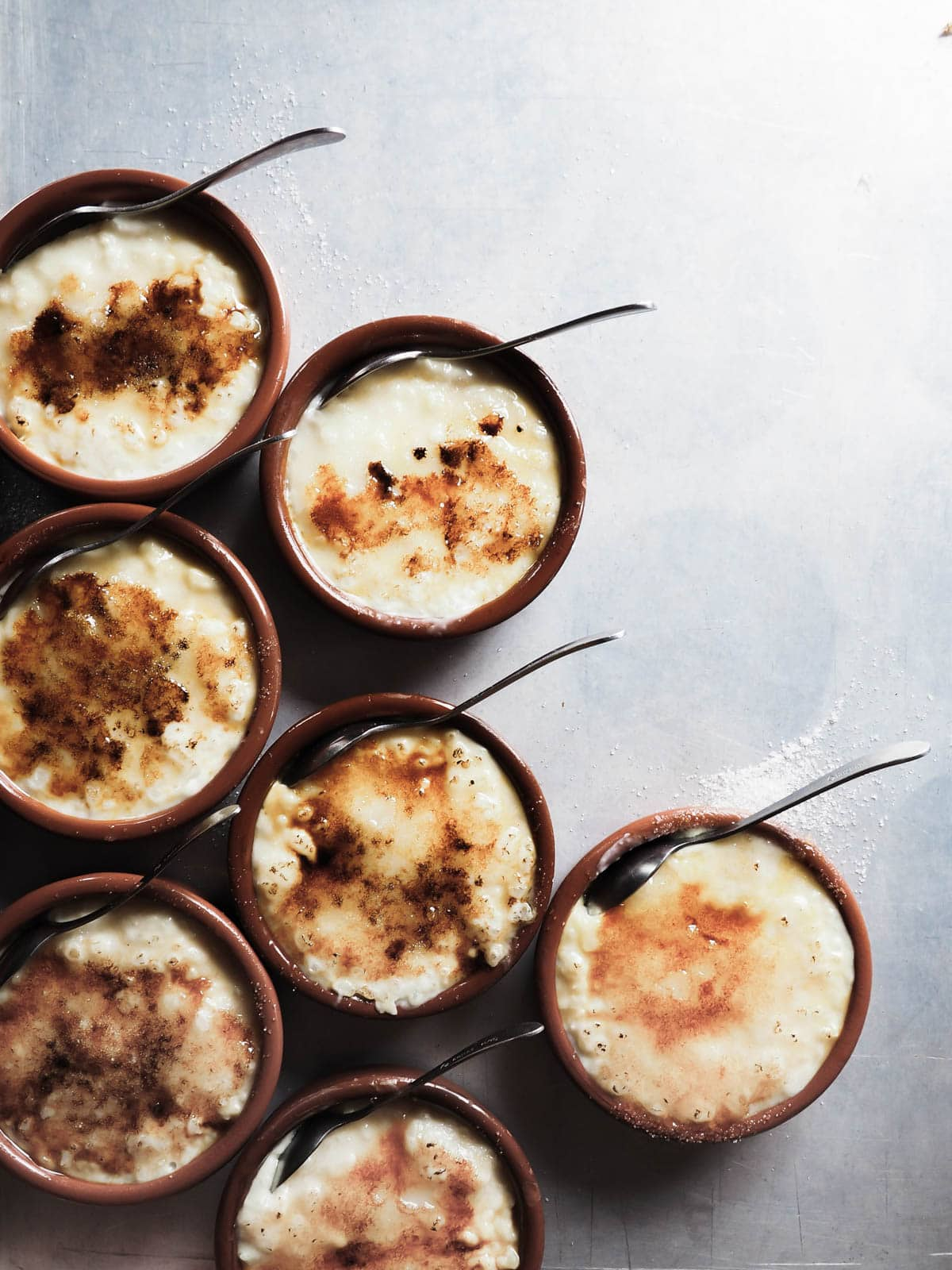 Creme brulee rice pudding