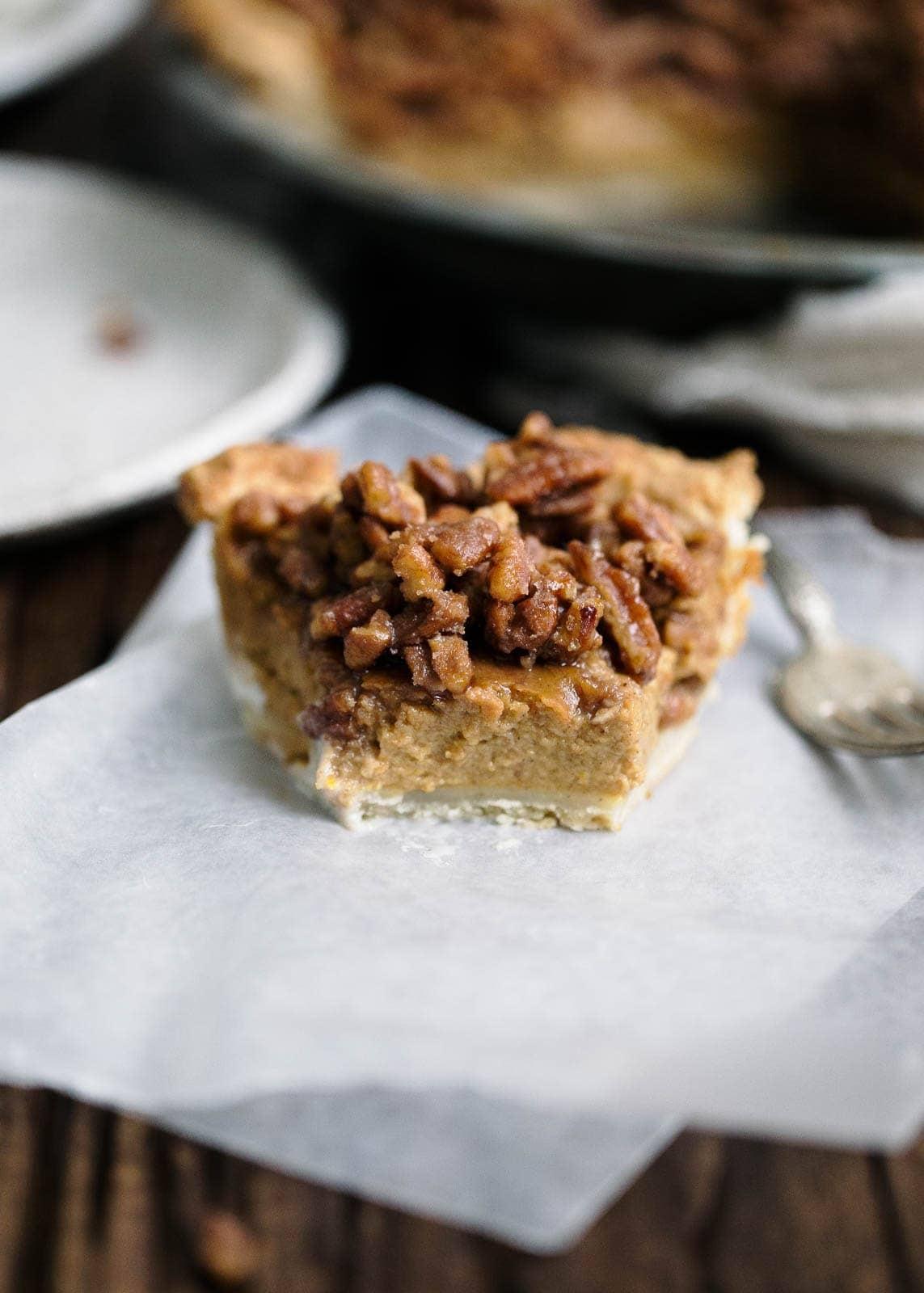 Maple Bourbon Pecan Pumpkin Pie - Broma Bakery
